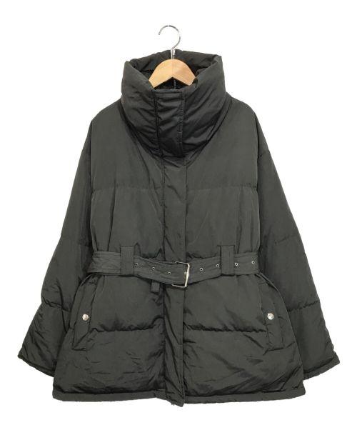 LE CIEL BLEU(ルシェルブルー)LE CIEL BLEU (ルシェルブルー) Belted Down Jacket ブラック サイズ:36の古着・服飾アイテム