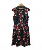 EPOCA THE SHOP(エポカ ザ ショップ)の古着「フラワープリントドレス」 ブラック