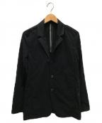 KAZUYUKI KUMAGAI ATTACHMENT(カズユキクマガイアタッチメント)の古着「ストレッチタフタ 2Bジャケット」|ブラック