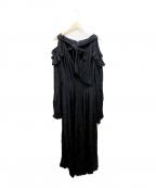 G.V.G.V(ジーヴィージーヴィー)の古着「カシュクールワンピース」|ブラック
