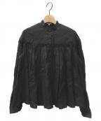 SCYE()の古着「リネンタックブラウス」 ブラック
