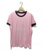 lucien pellat-finet(ルシアン・ペラフィネ)の古着「プリントTシャツ」|ピンク