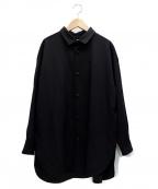 Dulcamara(ドゥルカマラ)の古着「よそいきラウンドヘムシャツ」 ブラック