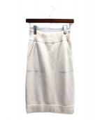 HERMES(エルメス)の古着「カシミヤニットスカート」|ホワイト