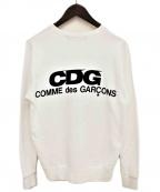 GOOD DESIGN SHOP COMME des GARCONS(グッドデザインショップ コムデギャルソン)の古着「ロゴスウェット」 ホワイト
