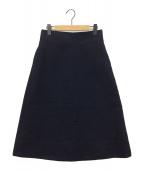()の古着「台形ロングスカート」|ネイビー