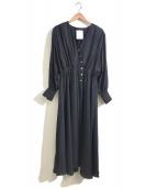 ELENDEEK(エレンディーク)の古着「カシュクールワンピース」|ブラック