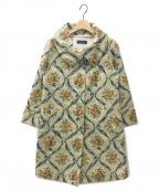 Lois CRAYON(ロイスクレヨン)の古着「フラワープリントコート」|イエロー