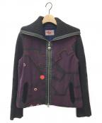 OLLEBOREBLA(アルベロベロ)の古着「ニットジャケット」|パープル