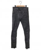 D.HYGEN()の古着「Horse Leather Slim Pants/レザーパン」|ブラック