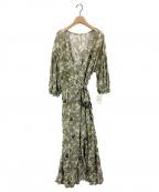LAppartement(アパルトモン)の古着「Flower Print Madam Dress」|オリーブ