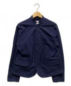 GRANDMA MAMA DAUGHTER(グランマママドーター)の古着「スタンドテーラードジャケット」|ネイビー