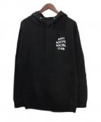 anti social social CLUB(アンチソーシャルソーシャルクラブ)の古着「プルオーバーパーカー」 ブラック