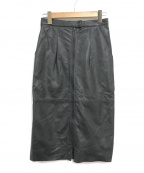 TELA(テラ)の古着「レザースカート」|ブラック