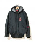 PINK HOUSE(ピンクハウス)の古着「[古着]ロゴアイコンブルゾン/ジャケット」|ブラック