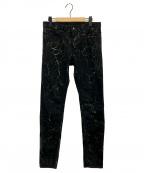 MINEDENIM(マインデニム)の古着「BD CRACK S.SLIM STR 5POCKET」|ブラック