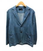 LARDINI(ラルディーニ)の古着「ヴィンテージウォッシュデニム2Bシャツジャケット」 インディゴ