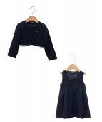 familiar(ファミリア)の古着「ボレロ&ジャンパースカート」|ネイビー
