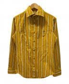Vivienne Westwood man(ヴィヴィアン ウェストウッド マン)の古着「ストライプシャツ」|オレンジ