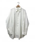 Toironier()の古着「ブロードルーズシャツ」 ホワイト