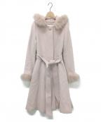LAISSE PASSE(レッセパッセ)の古着「レディ2Wayフードロングコート」|ピンク