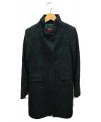 ()の古着「スタンドカラーコート」|グリーン