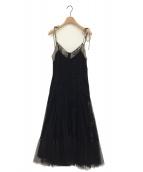 HER LIP TO(ハーリップトゥー)の古着「チュールドレスワンピース」|ブラック