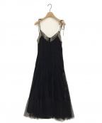 HER LIP TO(ハーリップトゥ)の古着「チュールドレスワンピース」|ブラック