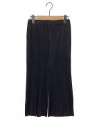 PLEATS PLEASE(プリーツプリーズ)の古着「パンツ」|ブラック