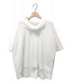 ()の古着「襟プリーツプルオーバーシャツ」|ホワイト