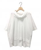 ISSEY MIYAKE(イッセイミヤケ)の古着「襟プリーツプルオーバーシャツ」|ホワイト