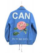 ()の古着「CAN FUTURE DAYS コーチジャケット」 スカイブルー