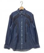 TOGA VIRILIS(トーガ ビリリース)の古着「ウエスタンフリンジデニムシャツ」 インディゴ