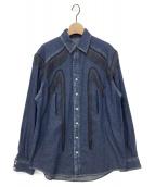 ()の古着「ウエスタンフリンジデニムシャツ」 インディゴ
