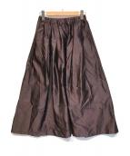 ()の古着「AIDAタフタギャザースカート」 パープル