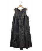 maturely(マチュアリー)の古着「Vegan Leather Dress」 ブラック