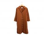 ()の古着「オープンカラーシャツドレス」 ブラウン