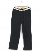 MASTER&CO.(マスターアンドコー)の古着「ベルト付ウールパンツ」|ブラック