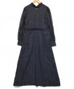 ENFOLD(エンフォルド)の古着「ビエラプリーツワンピース」 ダークネイビー