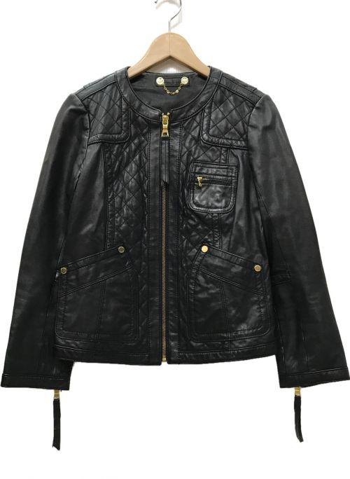 TORY BURCH(トリーバーチ)TORY BURCH (トリーバーチ) レザージャケット ブラック サイズ:Sの古着・服飾アイテム