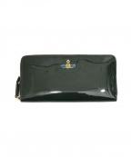 Vivienne Westwood(ヴィヴィアンウエストウッド)の古着「エナメル長財布」|グリーン