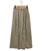 IENA(イエナ)の古着「Sustina Tweed ロングスカート」|ベージュ