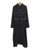 COMME des GARCONS GIRL(コムデギャルソン ガール)の古着「フリルポケットシャツワンピース」 ネイビー