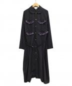 COMME des GARCONS GIRL(コムデギャルソン ガール)の古着「フリルポケットシャツワンピース」|ネイビー