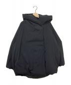 BLACK by moussy(ブラックバイマウジー)の古着「フードショートダウンジャケット」|ブラック