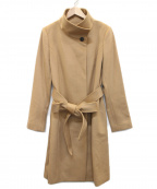 INDIVI()の古着「グレードカシミヤコート」|キャメル