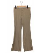 Lisiere(リジェール)の古着「Flare Slit Pants」|ベージュ