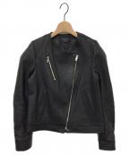 UNITED TOKYO(ユナイテッドトウキョウ)の古着「ノーカラーライダースジャケット」|ブラック