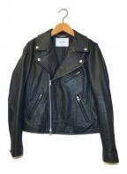 SLOBE IENA(スローブ イエナ)の古着「ラムレザーダブルライダースジャケット」|ブラック