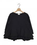 YORI(ヨリ)の古着「ダブルフレアスウェット」|ブラック